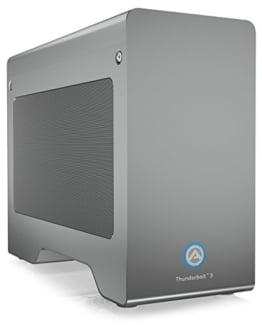 Akitio Node Pro Externes Thunderbolt 3 Gehäuse für Grafikkarte PCIe (x16), 1x DisplayPort, 2X TB3, 500 Watt Netzteil, Lüfter, Aluminium - 1