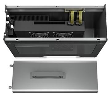 Akitio Node Pro Externes Thunderbolt 3 Gehäuse für Grafikkarte PCIe (x16), 1x DisplayPort, 2X TB3, 500 Watt Netzteil, Lüfter, Aluminium - 4