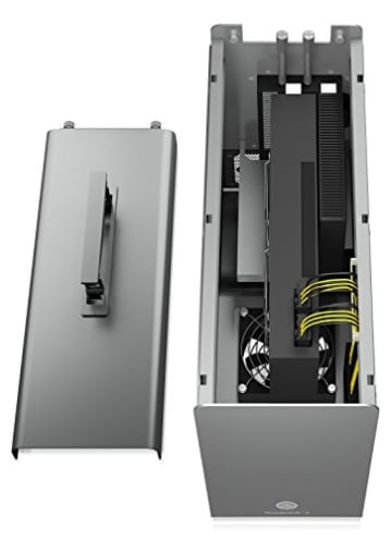 Akitio Node Pro Externes Thunderbolt 3 Gehäuse für Grafikkarte PCIe (x16), 1x DisplayPort, 2X TB3, 500 Watt Netzteil, Lüfter, Aluminium - 5