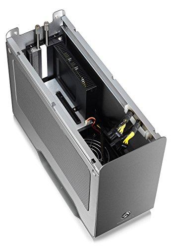 Akitio Node Pro Externes Thunderbolt 3 Gehäuse für Grafikkarte PCIe (x16), 1x DisplayPort, 2X TB3, 500 Watt Netzteil, Lüfter, Aluminium - 6